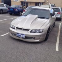 CAMARO 4 INCH RIBBED REVERSE COWL SCOOP TO FIT VY COMMODORE