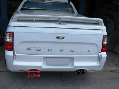 FALCON FG UTE DUAL OUTLET REAR INSERT painted and fitted