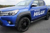 HILUX 2015+ BOLTED LOOK UNPAINTED FRONT FLARES