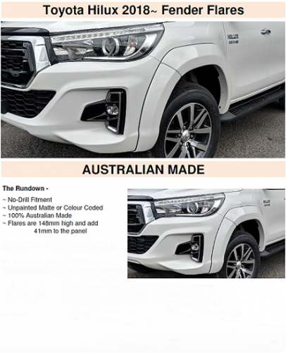 HILUX 2018+ PAINTED FACTORY STYLE FLARES