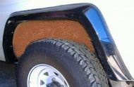 LANDCRUISER 75 & 78 SERIES TROOP CARRIER WITHOUT FUEL FILLER AT RIGHT REAR WHEEL ARCH SET OF 4